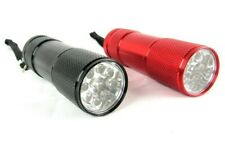 9 LED ALUMINIUM MINI TORCH FLASHLIGHT SUPER BRIGHT WITH BATTERY & BOX - 4 for 3