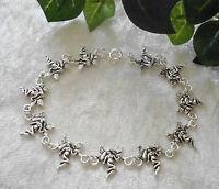 Schönes Elfe Fee Engel 925 Sterlingsilber Armband 19,5cm lang fairy bracelet