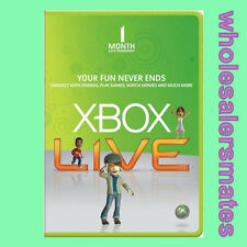 1 Month Xbox Live Gold Membership Code Card for 360 or One - INSTANT DISPATCH