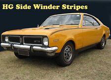 HG Holden Monaro GTS, Side winder Stripes in BLACK 1970 71