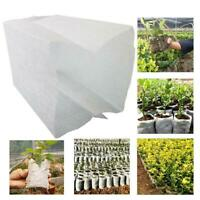 200x Degradable Non-Woven Nursery Bags Flower Plant Vegetables Grow Seedling Pot