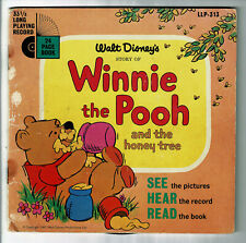 WINNIE The POOH Disque 33T 17cm Livre Honey Tree SHERMAN Enfant WALT DISNEY 313