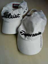 Titleist And Taylor Made White Golf Adjustable Caps