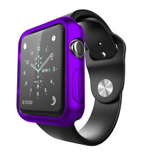 Soft Silicone TPU Bumper Frame Protective Case Cover For Apple Watch 42mm Purple