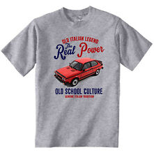 Vintage Italiano coche Fiat 128 Sport-Nuevo Algodón Camiseta