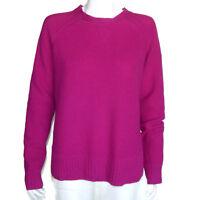 BROOKS BROTHERS 100% Cashmere Purple Waffle Knit Sweater Women's size XL 1954