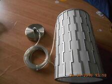 Chelsom white & grey pendant light. New.