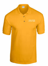 Personalised Gildan Polo Shirts printed on front left breast only