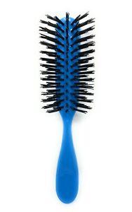 Allegro Combs Hair Brush 100 Nylon Bristles Hair Brush 7 Row Teasing Brush Blue