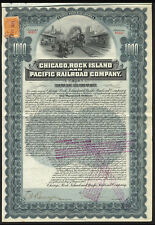 Chicago, Rock Island & Pacific Railroad Co., 4% Gold Bond, 1902, $1000, with ...