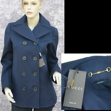 GUCCI New sz 38 - 2 Authentic Designer Spring Fall Womens Coat Jacket  Blue