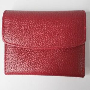 Buxton womens small tri fold wallet coin credit card holder burgundy NWOB