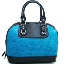 New Dasein Women Crocodile Leather Handbag Satchel Tote Bags Shoulder Bag Purse