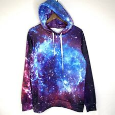 Galaxy Sweatshirt Hoodie Mens Small Galaxy Pocket Sweater Pull Over New No Tag