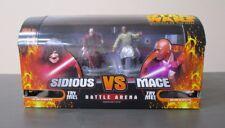 Darth Sidious Mace Windu 2005 STAR WARS Revenge of the Sith Battle Arena MIB