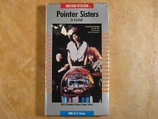 POINTER SISTERS SO EXCITED VHS RARE! 1ST EDITION ORIGINAL RELEASE 1986 RCA
