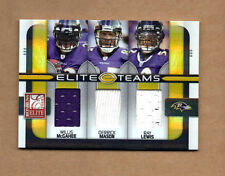 2008 Donruss Elite Teams Jerseys #23 Willis McGahee Derrick Mason Ray Lewis /199