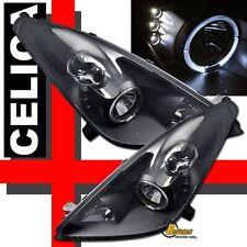 2000-2005 Toyota Celica Halo Angel Eye LED Black Projector Headlights 1 Pair