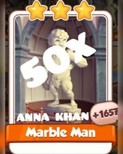 50 x Marble Man  :- Artist Set :- Coin Master Cards (Fastest delivery)