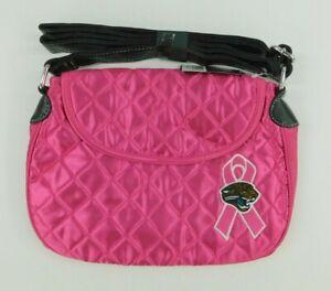 ProFANIty NFL Football Womens Pink Purse Jacksonville Jaguars Quilted Saddlebag