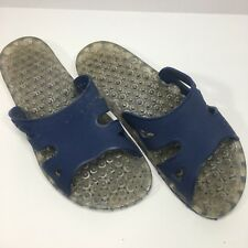 ec8d5cc145c4 Sensi Assisi Spa Flip Flops Size 7 US Womens Blue Clear Beach Pool