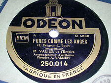 78 trs-rpm-VALIES - Pures comme les Anges - ODEON 250014