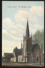 Postcard ST THOMAS Ontario/CANADA  Trinity Church view 1907