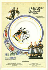 Publicité contemporaine HB Henriot Quimper 2002  issue de magazine