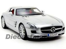 MAISTO 1:18 2011 MERCEDES BENZ SLS AMG DIECAST MODEL CAR SILVER