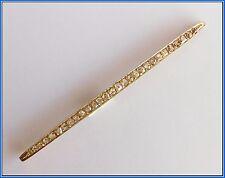 UNUSUAL BROOCH / BAR / PIN - 18K Gold and Rose Cut Diamonds 1 Carat approx.