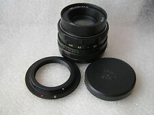 Russian Lens Zenit USSR MC HELIOS 44M. 2/58 M42  + bundle adapter Canon