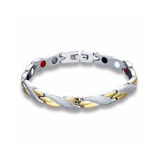 Women Health Bracelet Titanium Steel Energy Magnetic Stone Classic Bracelet