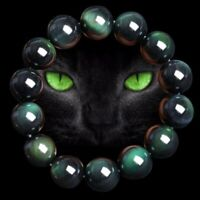 Unisex 8/10/12mm Obsidian Black Round Beads Stone Gem Stretch Therapy Bracelet