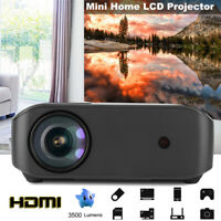 3500 Lumens LCD Mini Projector Home Theater Multimedia HDMI USB Wireless Airplay