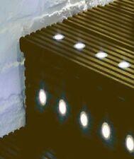 10x 30mm Saxby Blau-runde LED-Licht Kit Küche Sockelleisten Außenbereich Deck