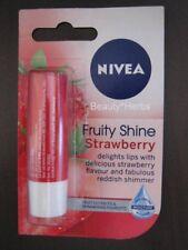 Nivea Fruity Shine Strawberry Lip Balm, 4.8g, Lasting Moisture, Made in Germany