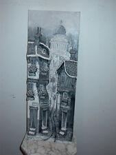 3D Canvas Street Scene Painting Art Signed Rodrig