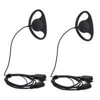 2X D Shape Earpiece Headset Microphone fr Motorola Radio CP040 CP200 GP300 2 Pin