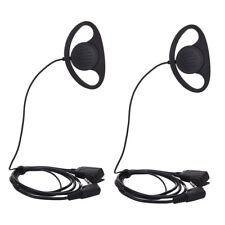 2PCS D Shape Ear Hook Earpiece Headset with PTT & Microphone for Kenwood TYT