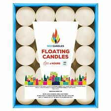 The Dreidel Company Unscented Floating Candles, Set of Ivory Floating Tea Lig...