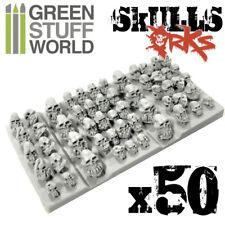 50x Resin ORK Skulls - Sack of Skulls - Basing Scatter Scenery Miniature Bases