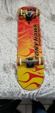 Tony Hawk Huckjam Series Complete Skateboard Skull Red Yellow Orange Flames