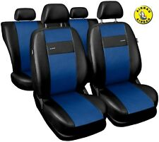 Car seat covers fit Seat Toledo black/blue  leatherette full set