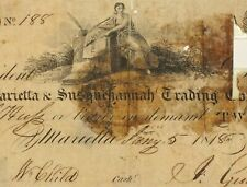 1818 Pennsylvania $20 Marietta and Susguchannah Trading Co Obsolete Note 059G