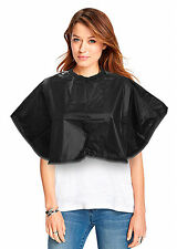 PRO DMI BLACK ESSENTIALS PVC SHOULDER CAPE TINTING CUTTING COLOURING FOR SALONS