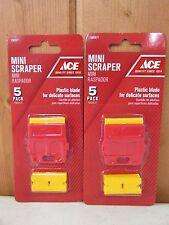 Plastic Double Edged Razor Blades Mini Scraper ~ 2 Pack ~ New