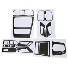 Black Carbon Fiber Interior Panel Dashboard Sticker Set FIT VW GOLF GTI MK6 AT