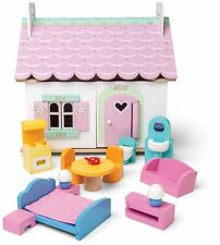 Le Toy Van DOLL HOUSE LILY'S COTTAGE Wooden Toy BN