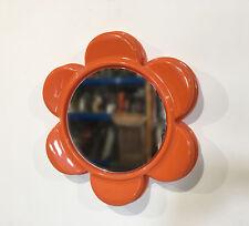 Miroir FLEUR  Orange Vintage    années 70's