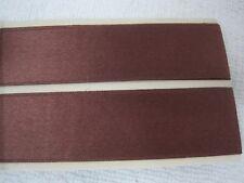 "1 Yard 10 Inch  Yards Chocolate Brown SILK Satin Double Face Ribbon 1"" Wide"